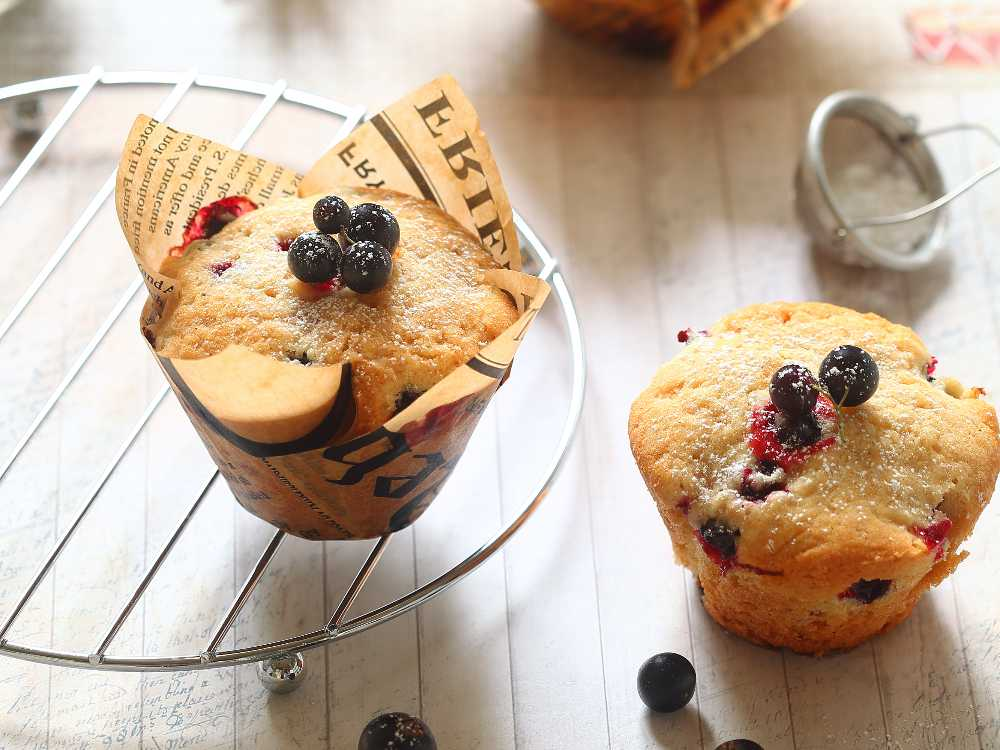 Svartvinbärsmuffins