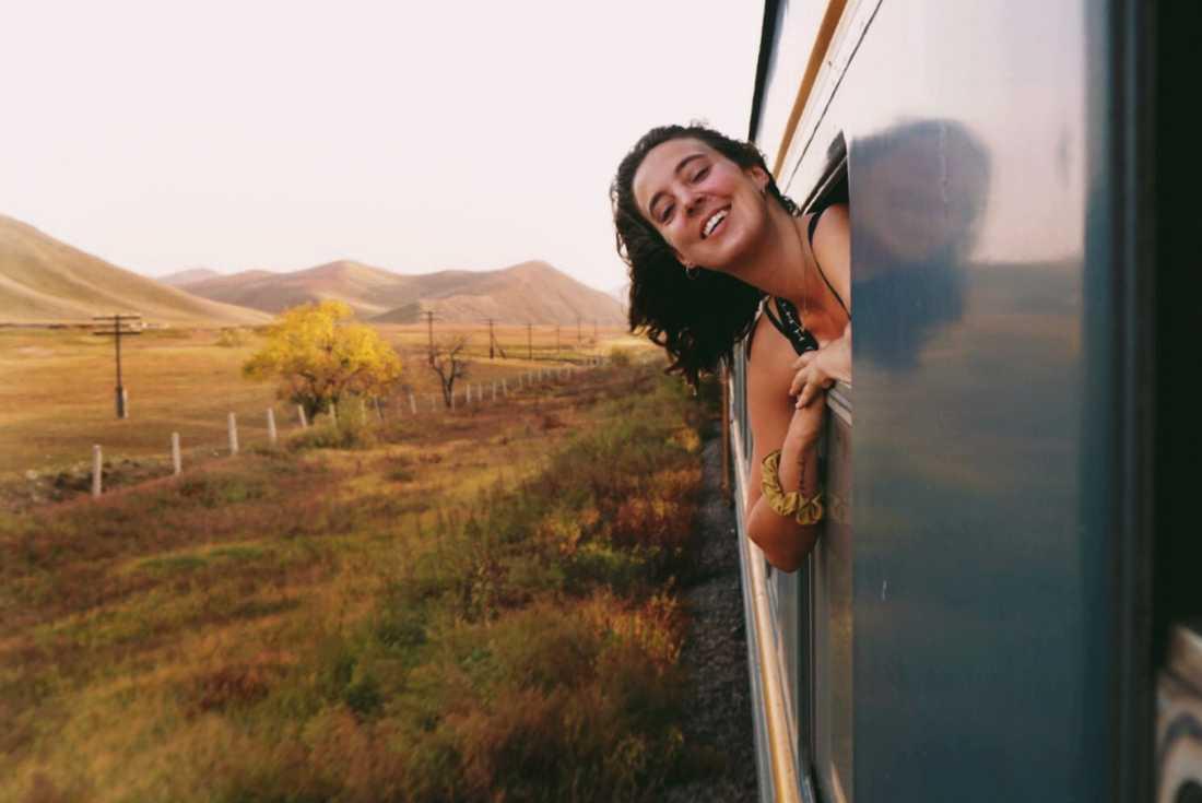 Att se naturen förändras utanför fönstret var fantastiskt, enligt Sandy Stadelmann.