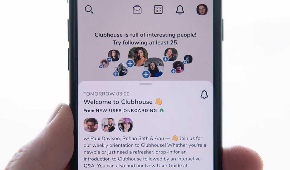 Clubhouse är en app där man talar och lyssnar –ljudet är kung.