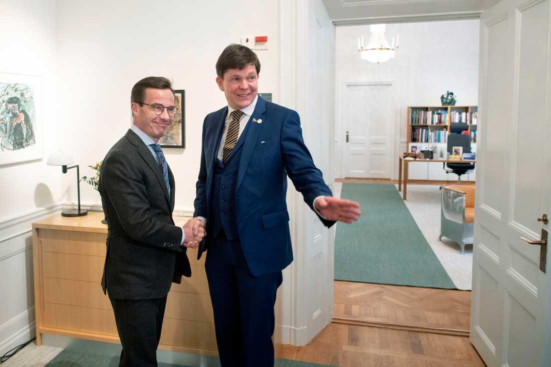 Ulf Kristersson möter talman Andreas Norlén