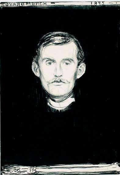 Edvard Munch, självporträtt från 1895.
