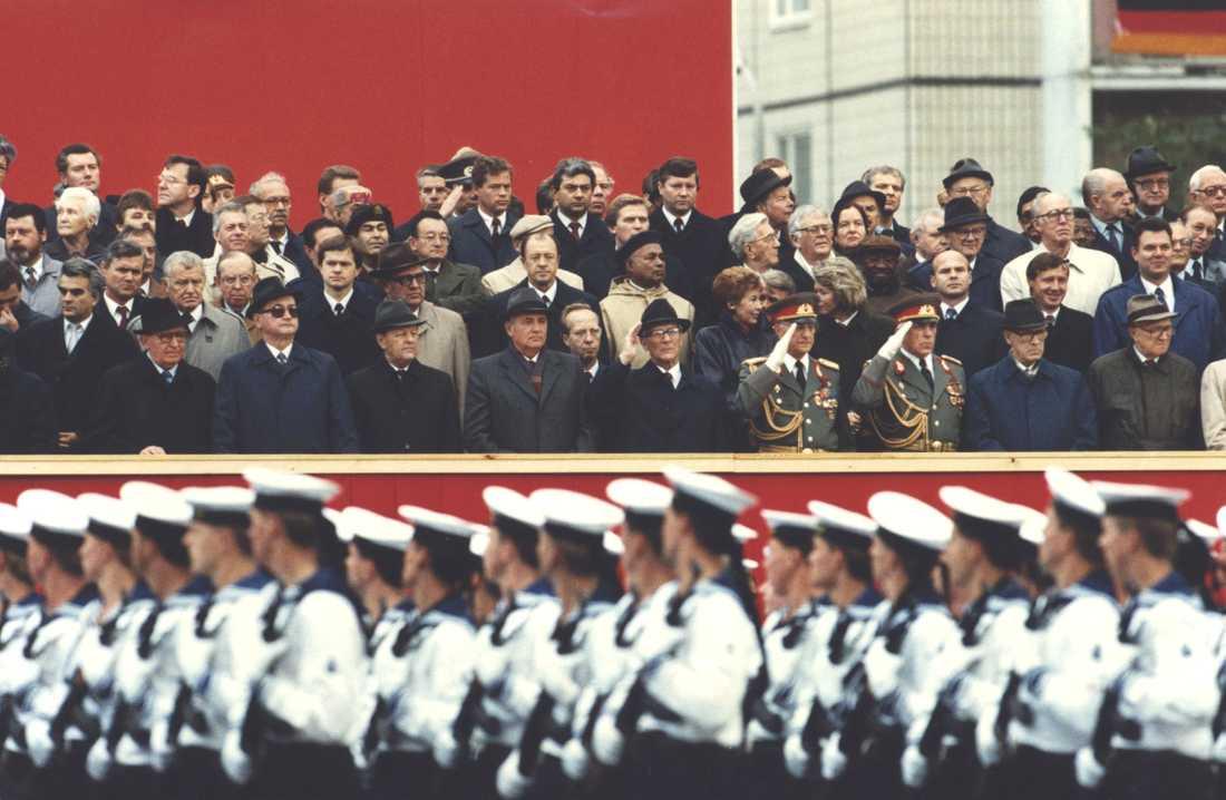 Östtysklands 40-årsjubileum oktober 1989.