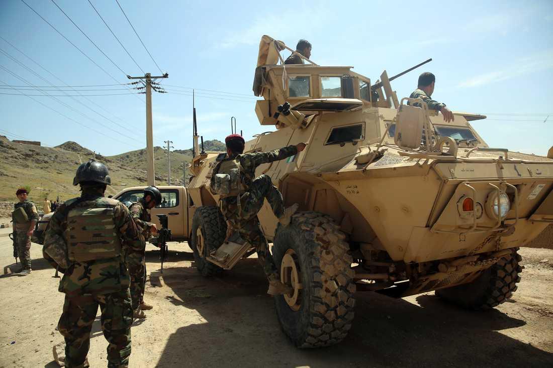 Afghanska regeringsstyrkor. Arkivbild.