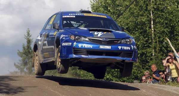 Snabbast i Ryssland Patrik Flodin kan titulera sig rysk mästare i rally – efter fyra segrar på fyra tävlingar. FOTO: TONY WELAM