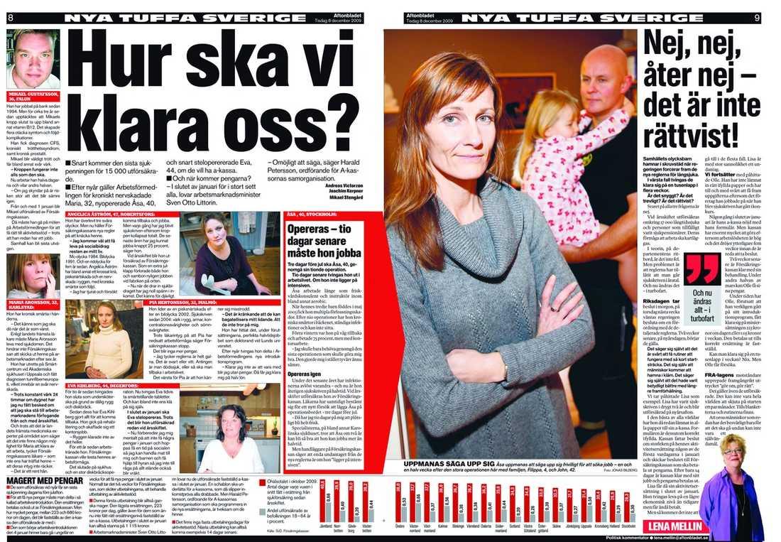 Aftonbladet 8 och 9 december.