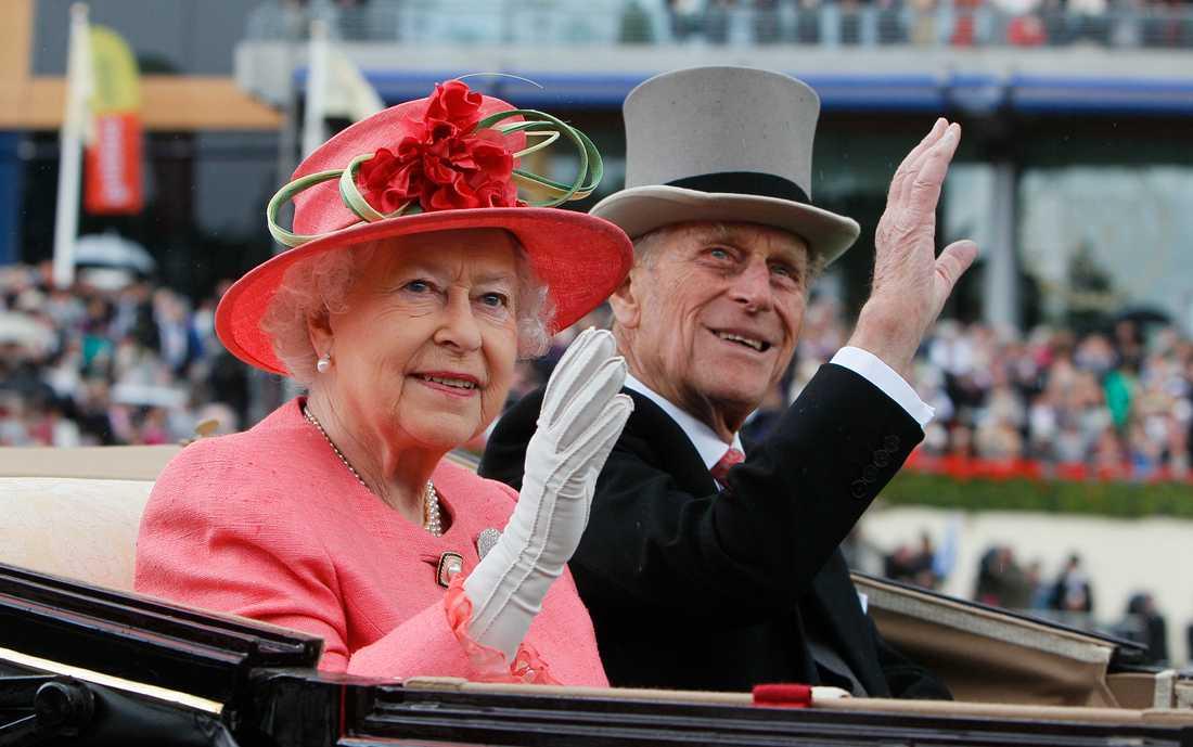 Drottning Elizabeth och prins Philip.