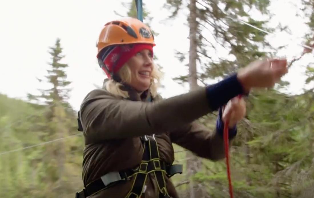 Jenny Strömstedt trotsar sin dödsångest genom att åka zipline.
