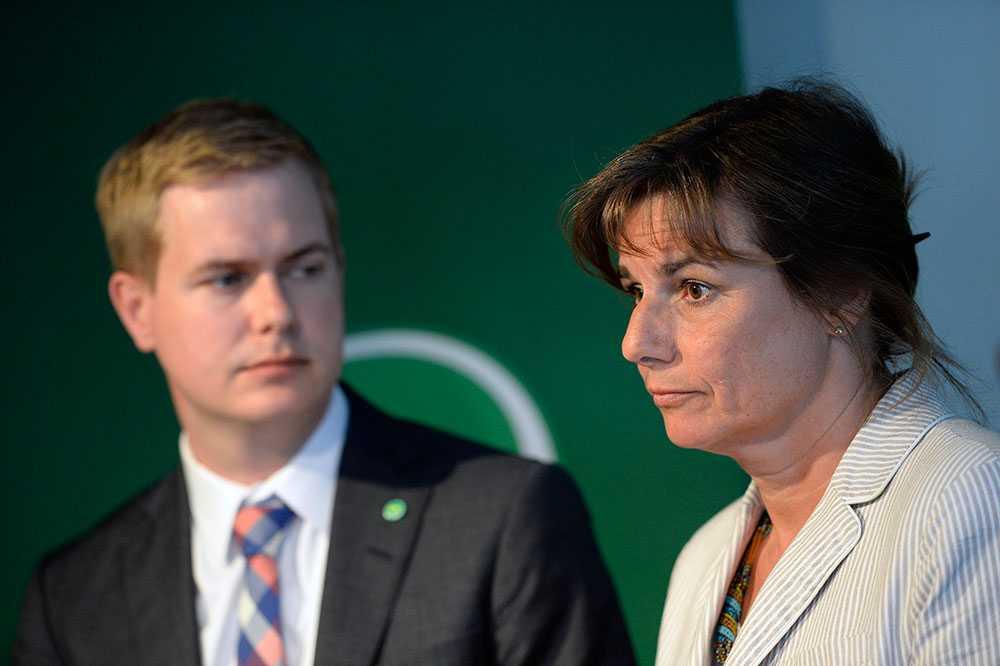 Gustav Fridolin och Isabella Lövin, MP:s språkrör.