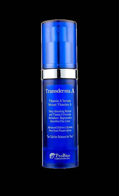 """""""Transderma A"""", Transderma Nattserum som exfolierar huden och stimulerar cellförnyelsen med snabbt och synligt resultat på rynkor, slapp hud och pigmentfläckar."""