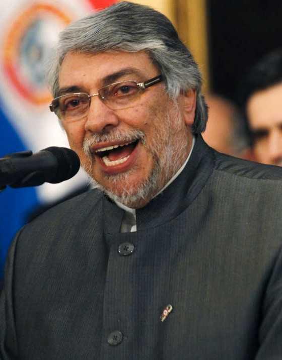 Paraguays president Fernando Lugo.