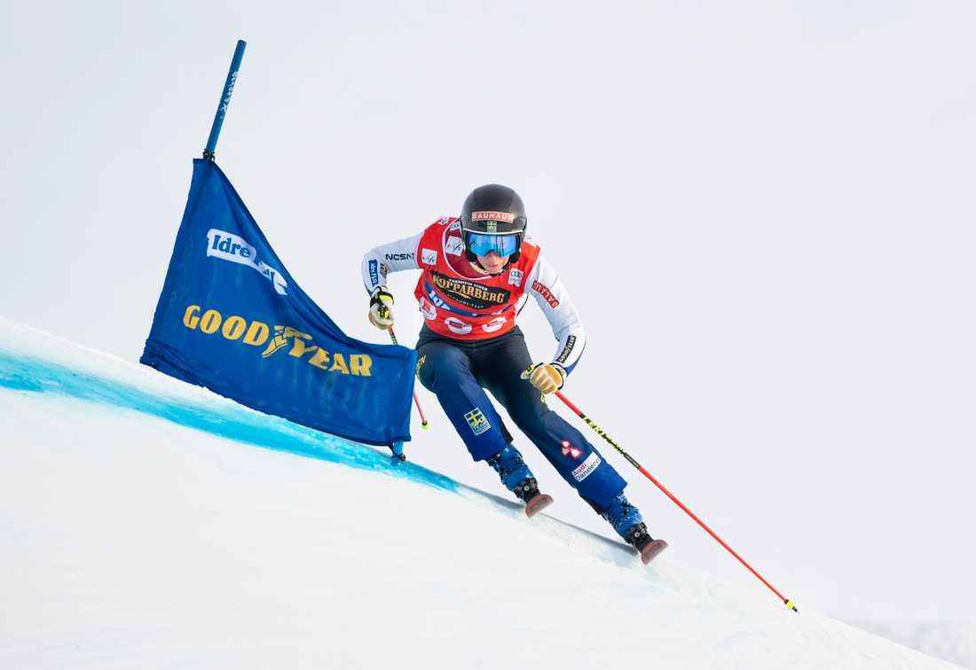 Världscupvinnaren i skicross, Sandra Näslund. Arkivbild.