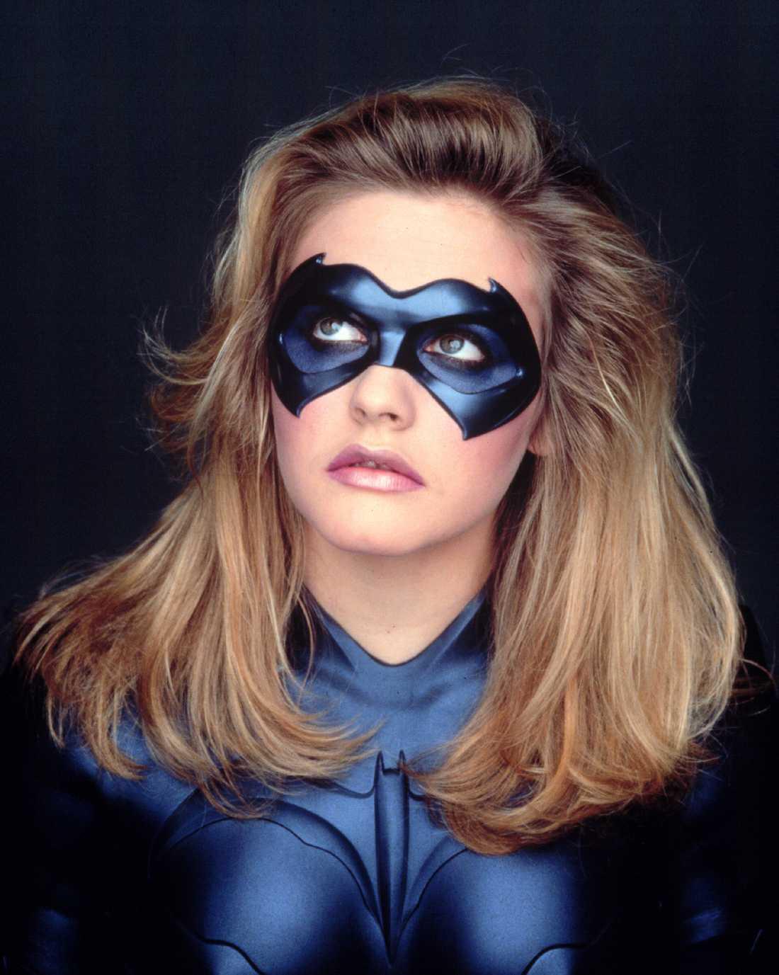 """Alicia Silverstone som Batgirl i superfloppen """"Batman och Robin"""""""