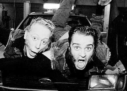 """Peter Settman och Fredde Granberg som """"Ronny och Ragge"""" – en succé på 1990-talet."""