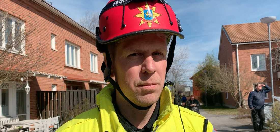 Insatsledare Marcus Nordalen.