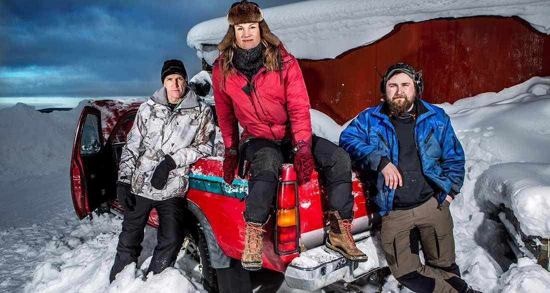 """Utmaning. Björn, Heidi och Kristoffer kämpar för att minska sin klimatpåverkan i SVT:s """"Storuman forever""""."""