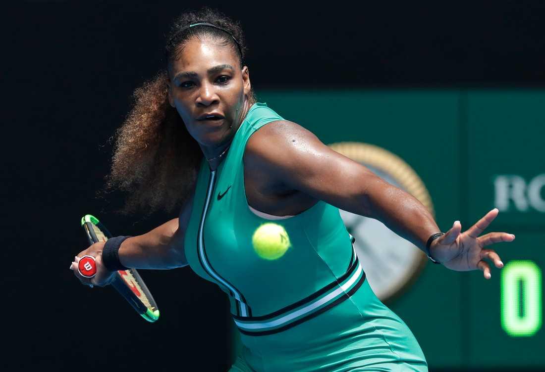 Serena Williams vann öppningsmatchen i Australian Open.