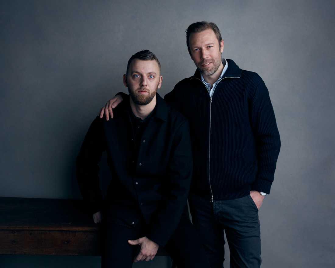 Gustav Möller och Jakob Cedergren på Sundance Film Festival i Utah, USA i januari i år. Arkivbild.