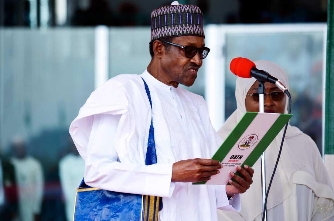 Nigerias president Muhammadu Buhari har fördömt attackerna mot flera byar i norra delen av landet. Arkivbild.