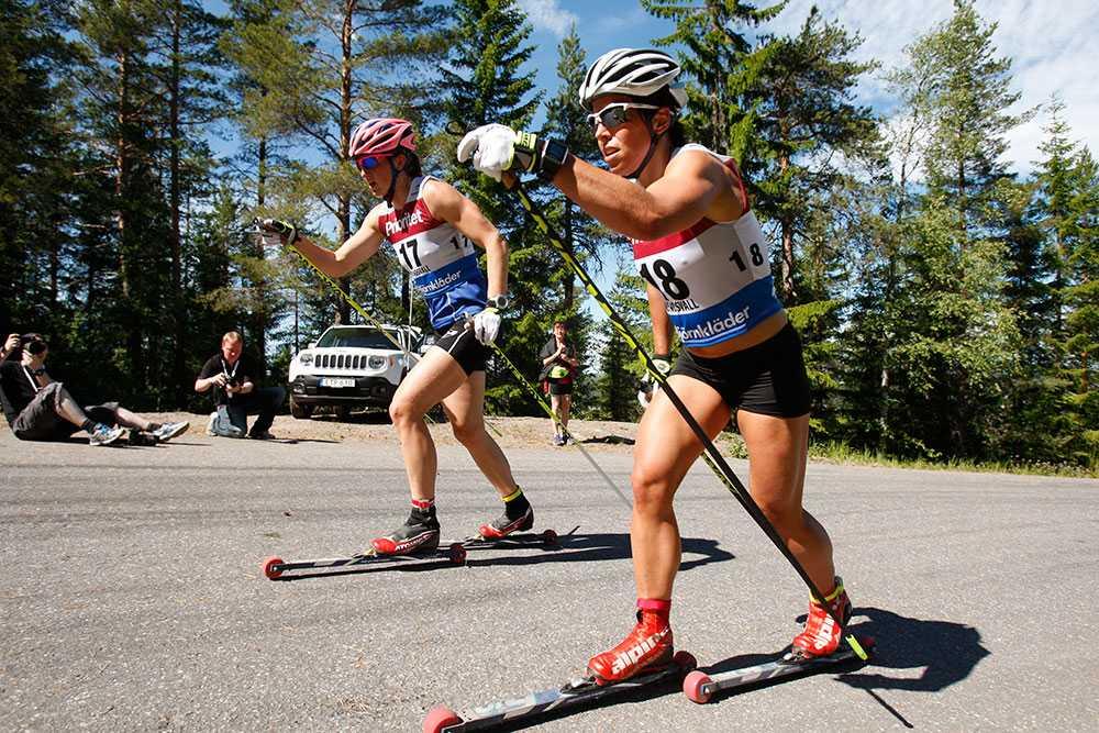 Charlotte Kalla vann SM-guld på rullskidor