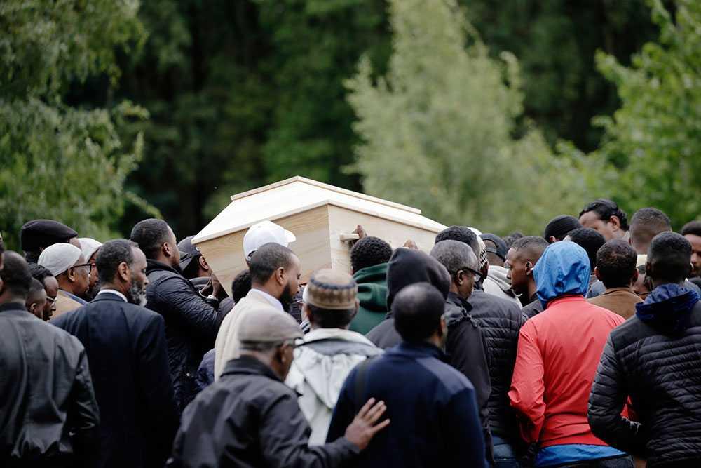Pojken som dödades i Göteborg begravdes på måndagen.