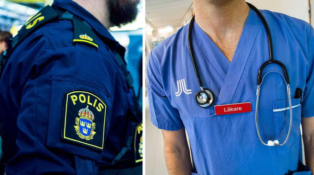 Polis och lärare är två yrken där arbetsbristen är hög.