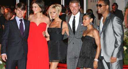 Välkomstfest 600 VIP-inbjudna gäster firade att Beckham flyttat till Los Angeles. Det var TomKat samt Will Smith och hans hustra Jada som anordnat festen.