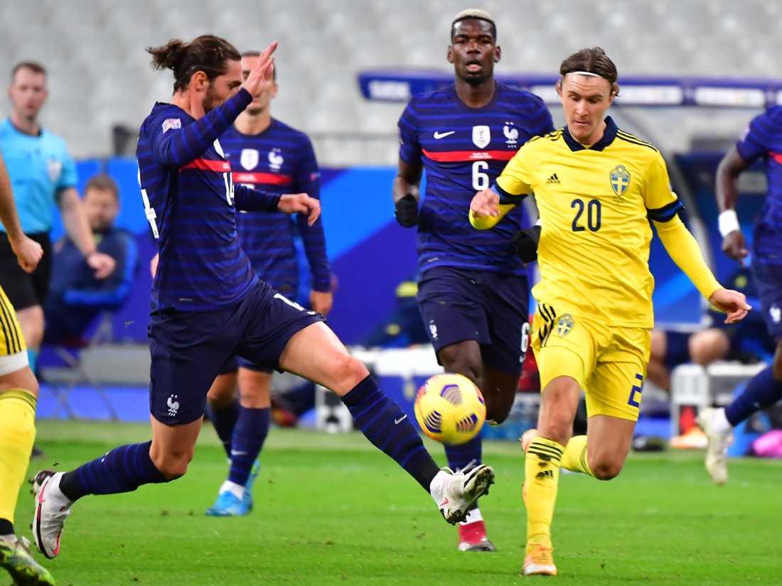 Vilka ställs Kristoffer Olsson och övriga landslagsspelare mot i VM-kvalet till slutspelet i Qatar? Lottningen sker snart. Arkivbild.