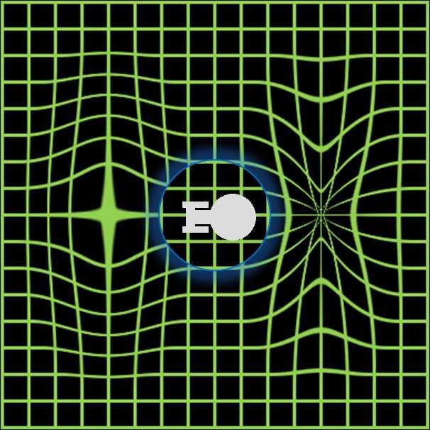 """På forumet och bland experter har fysikern Miguel Alcubierres teorier om en """"warpbubbla"""" diskuterats flitigt. Tanken är att placera ett rymdskepp inuti i warpbubblan.  Bubblan fungerar genom att krympa rumtiden framför sig och expandera den bakom sig. Det får bubblan att röra sig (som en surfare på havet) i ljusets hastighet samtidigt som skeppet står stilla inuti. Då skulle, enligt Alcubierres teori, skeppet inte förstöras. Teorin har aldrig bevisats vara genomförbar, men det kan förändras om Nasas upptäckt visar sig vara korrekt."""
