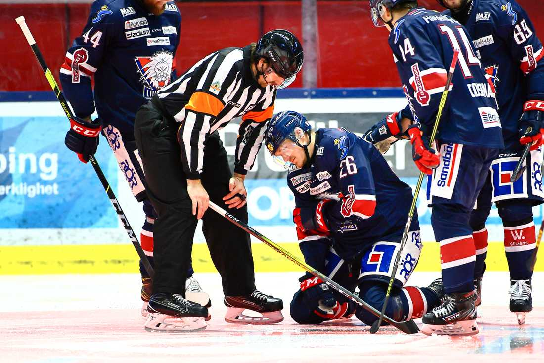 Hampus Larsson efter incidenten mot Frölunda.
