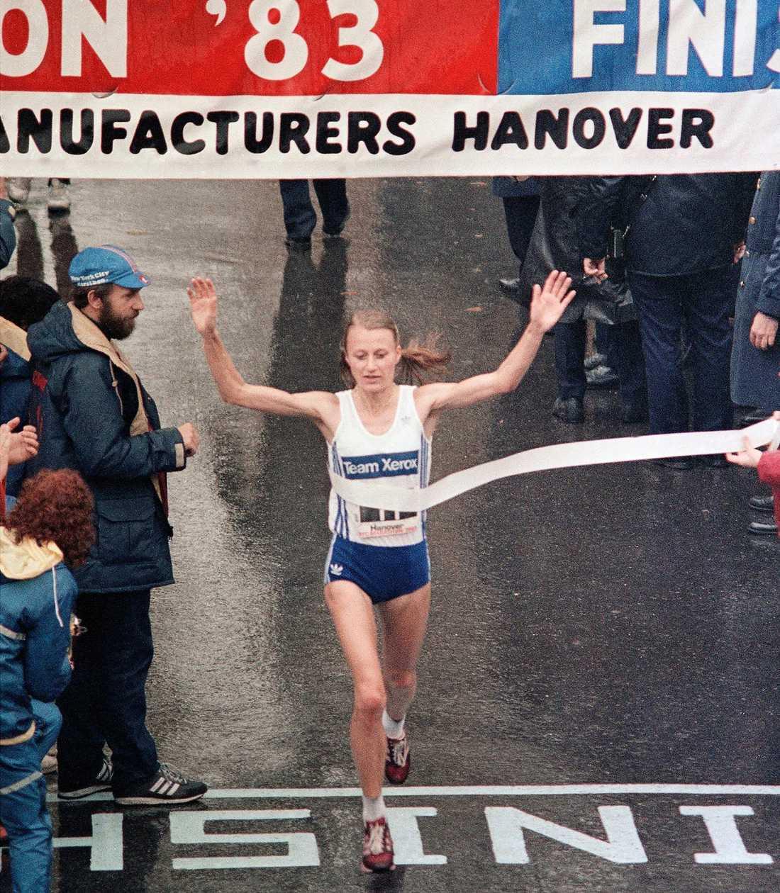 Waitz i New York City-maraton 1983.