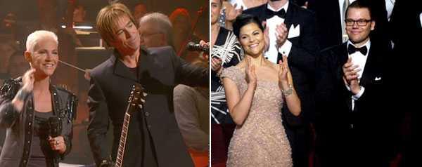 She´s got the look Marie Fredriksson och Per Gessle återförenades som Roxette på Konserthusets scen på fredagkvällen – en höjdpunkt under festkonserten till Victoria och Daniels ära.