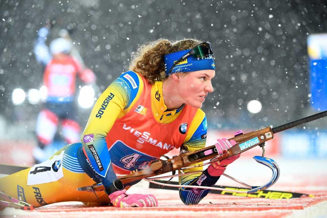 Hanna Öberg blev bästa svenska – och 14:e i sprinten i Frankrike. Arkivbild.
