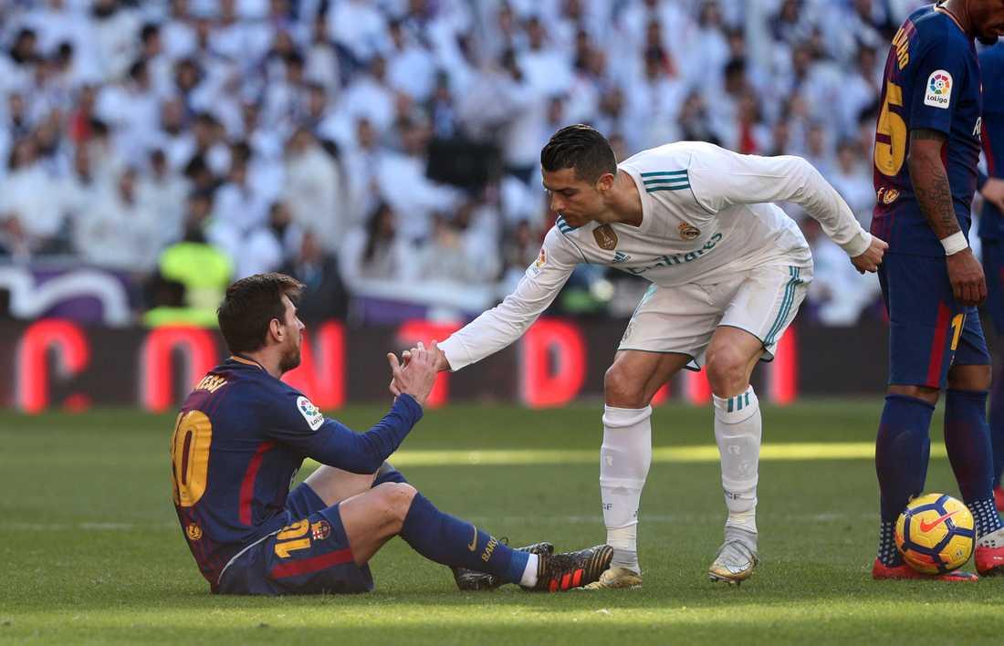Messi och Ronaldo under förra säsongen