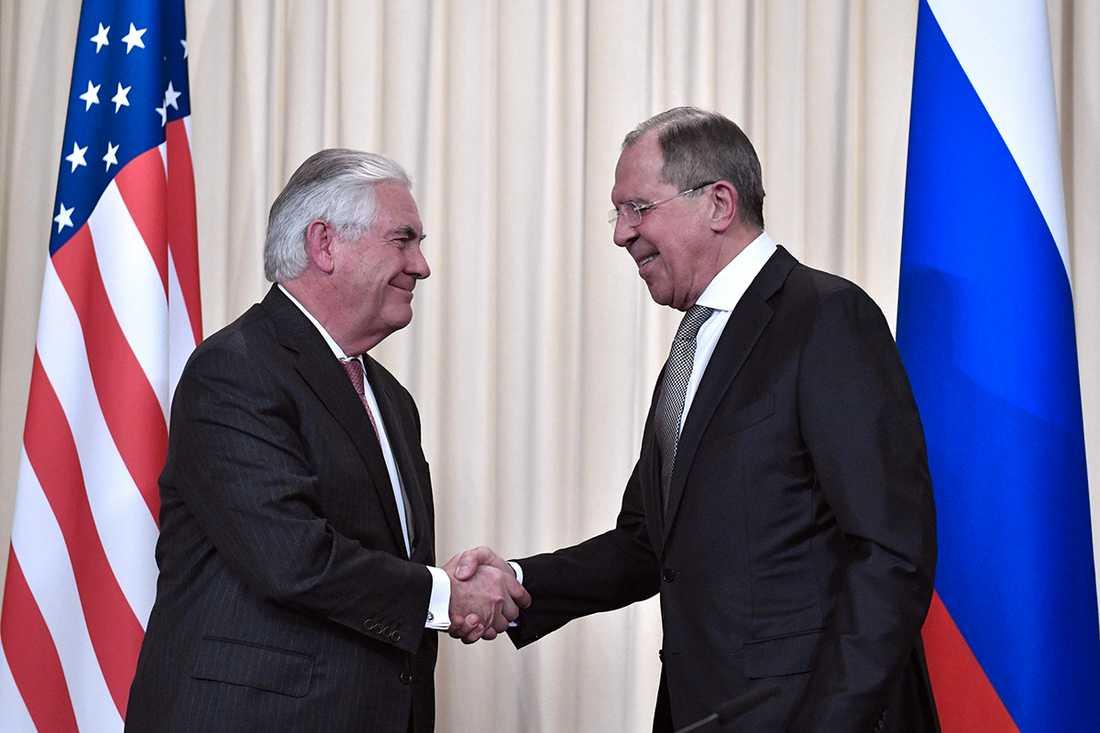 Rex Tillerson och Sergej Lavrov.