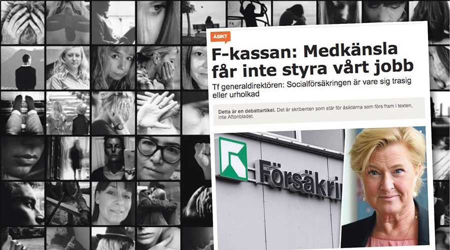 Hemström-Hemmingson menar att våra berättelser skapar otrygghet, när det är Försäkringskassan själva genom hanteringen av våra ärenden som bär skulden, skriver 156 representanter från Aktion #116omdagen.