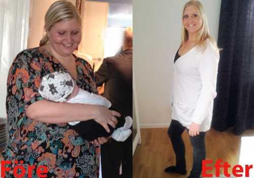 gå ner i vikt snabbt efter förlossning