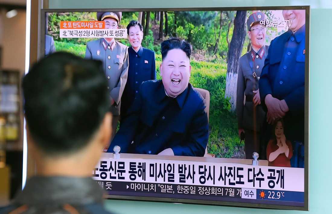 Tv-sändning i Sydkorea om robottestet.