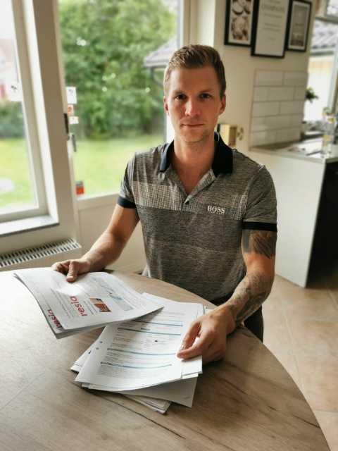 Robin Johansson har kämpat i månader för att få tillbaka pengar från Resia.