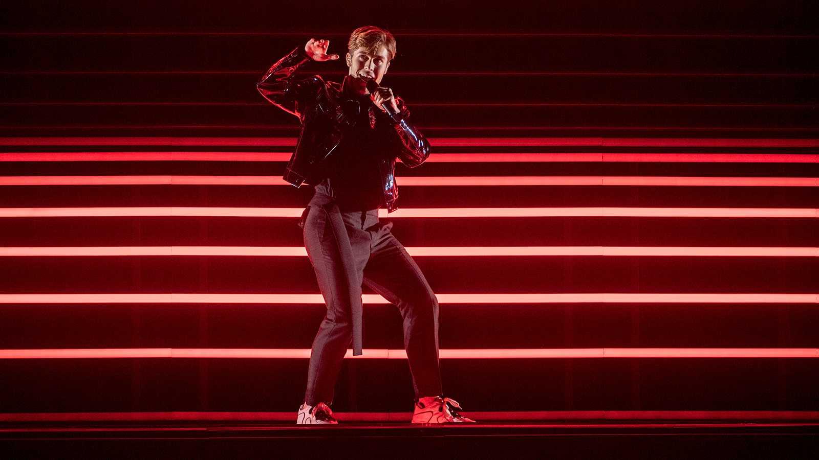 Benjamin Ingrosso gick hem hos juryn men inte hos telefonröstarna i Eurovision 2018.