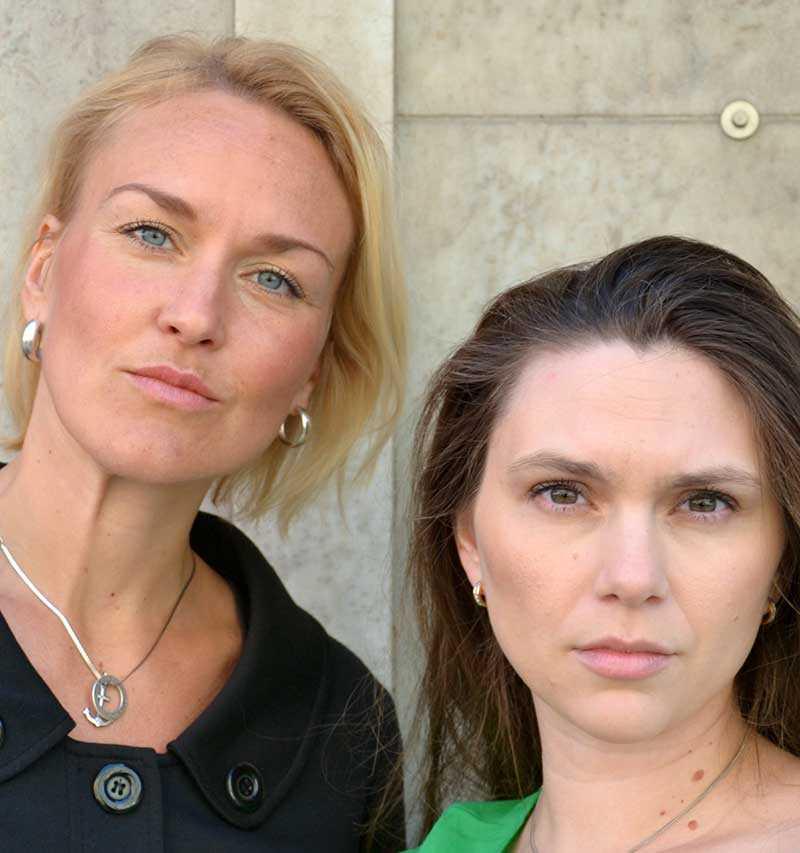 Olga Persson och Zandra Kanakaris.