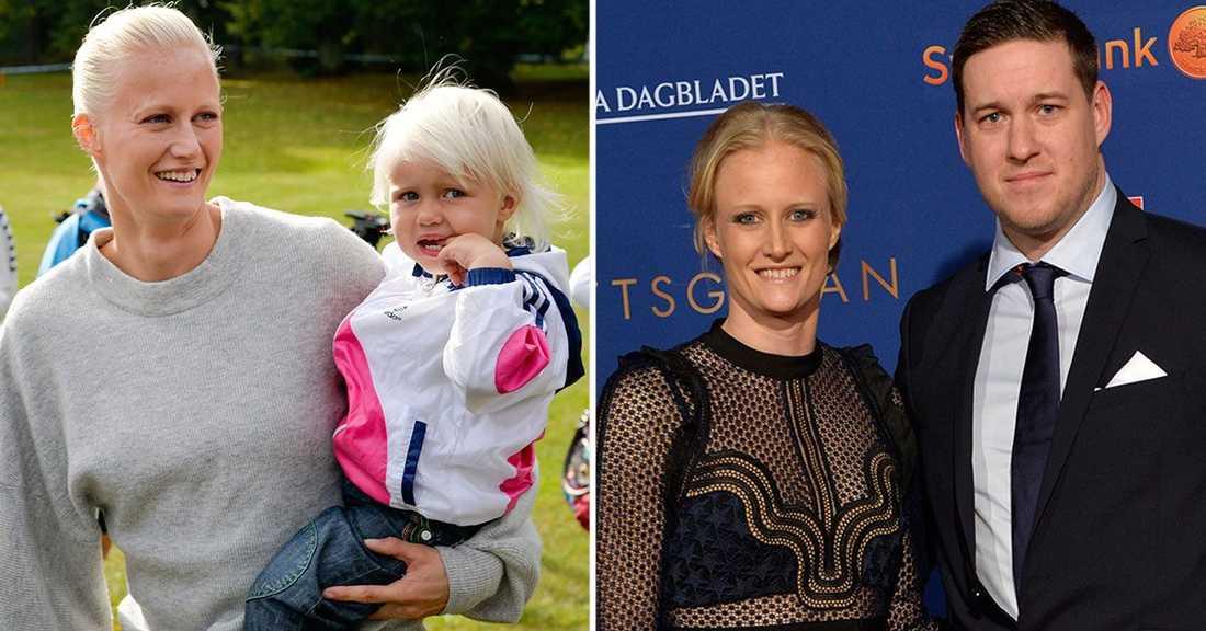Carolina och Patrik Klüft har sedan tidigare dottern Laleh, snart tre år, tillsammans.