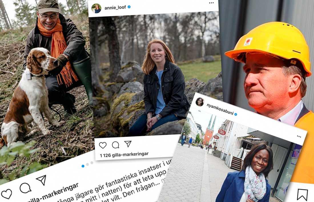 Instagram har blivit en populär kommunikationskanal bland partiledarna.