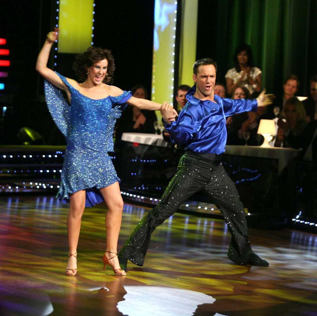 """Cecilia Ehrling och Martin Lidberg i """"Let's dance"""" 2007."""