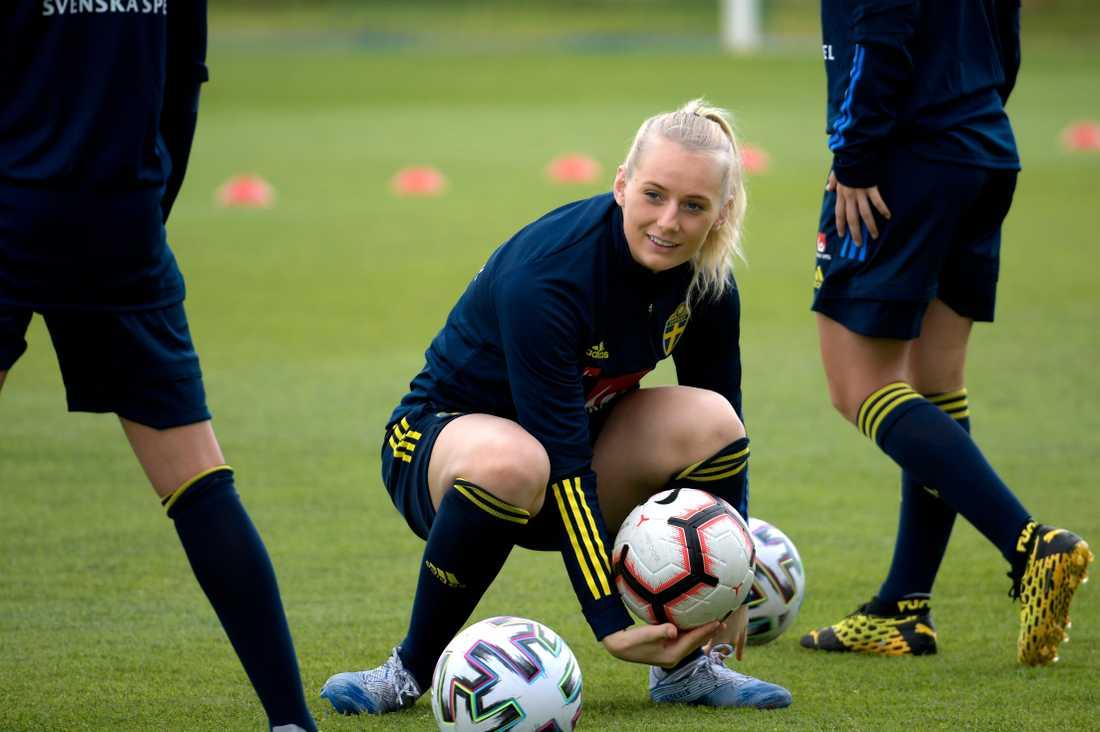 Stina Blackstenius får som hon vill och spelar framöver för Göteborg i damallsvenskan. Arkivbild.