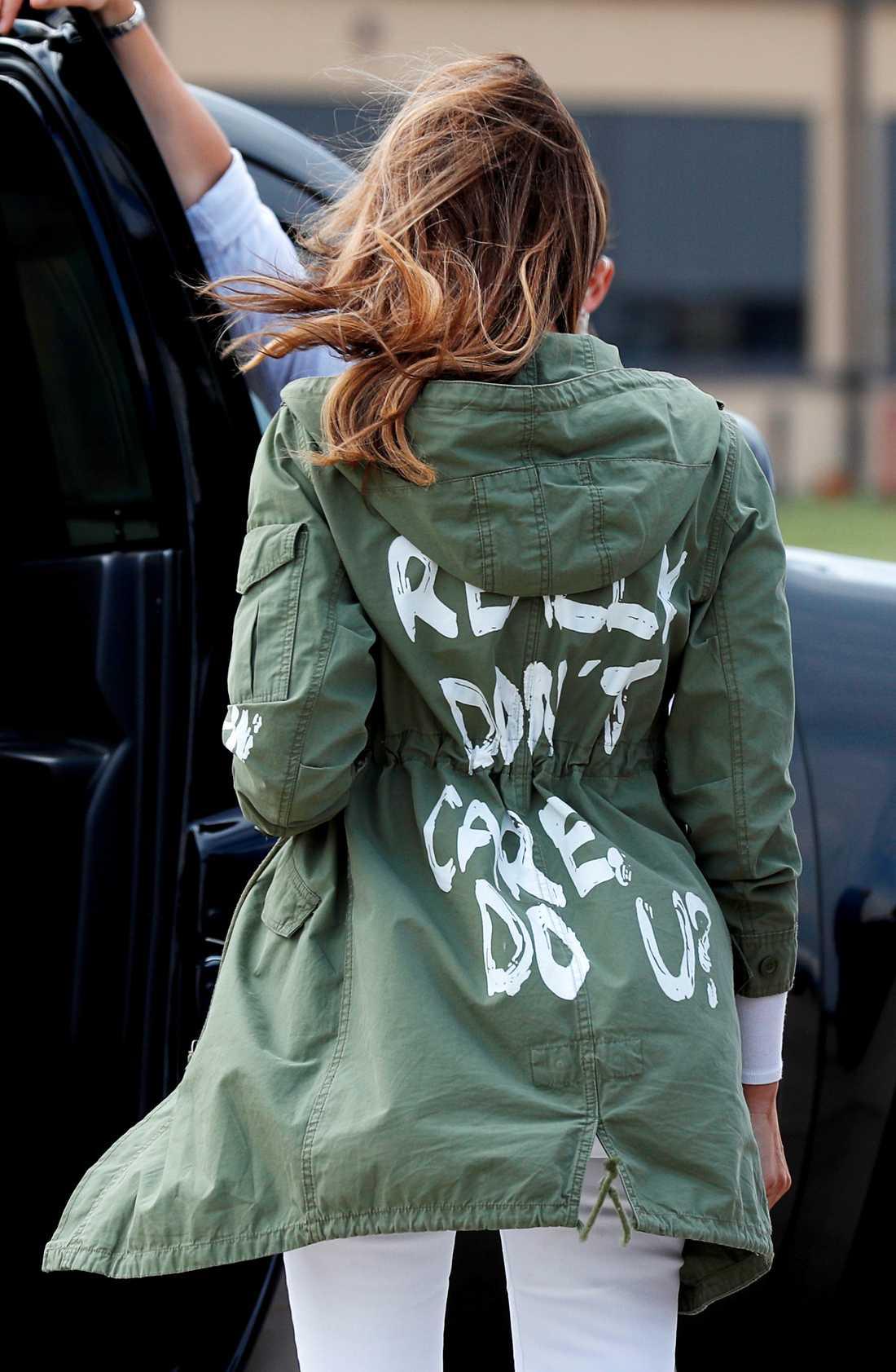 Melania Trumps omtalade jacka.