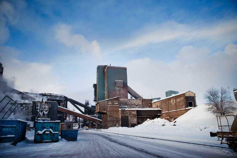 Gustafs arbetsplats Nordark på SSAB:s område i Luleå.
