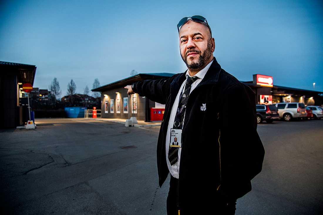 Yousef Djioui, 49, såg terroristen vid bensinmacken i Märsta.