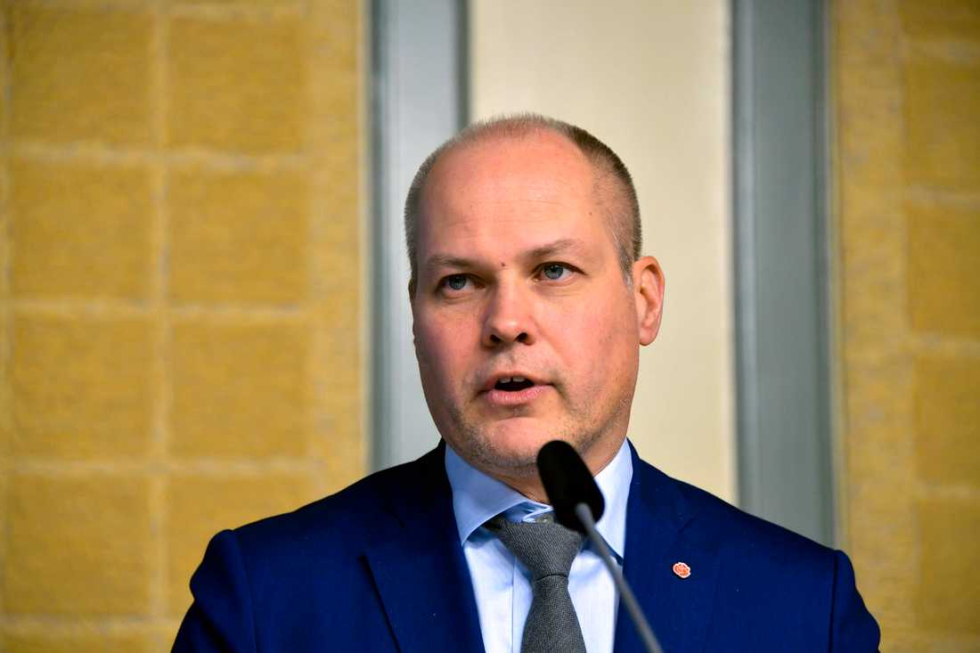 Morgan Johanson, justitie- och inrikesminister (S)