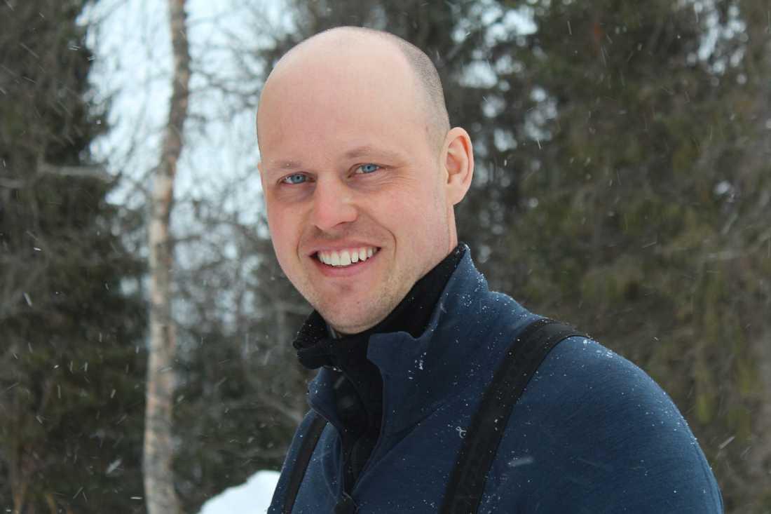 Jimmy, 37 år, köttbonde från Ankarvattnet i Jämtland. Pressbild.