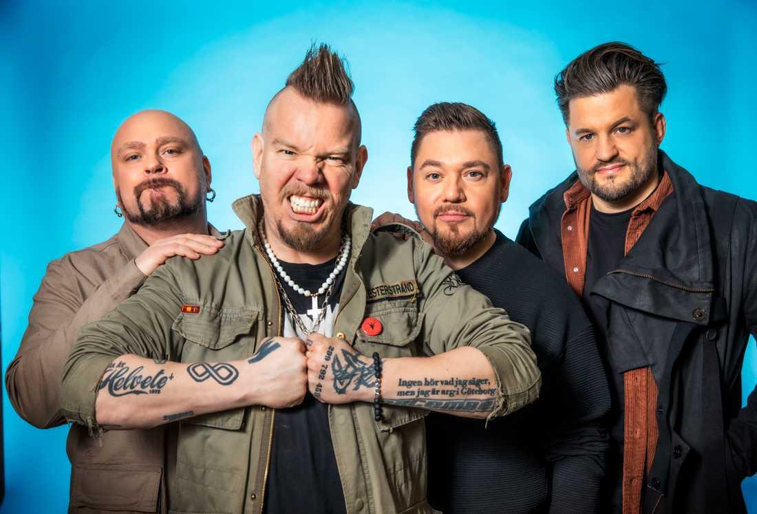 Lillasyster. Från vänster Max Flövik, Martin Westerstrand, Ian-Paolo Lira, Andreas Bladini
